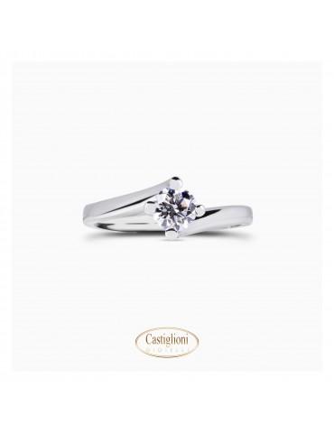 Anello Diamante Letizia